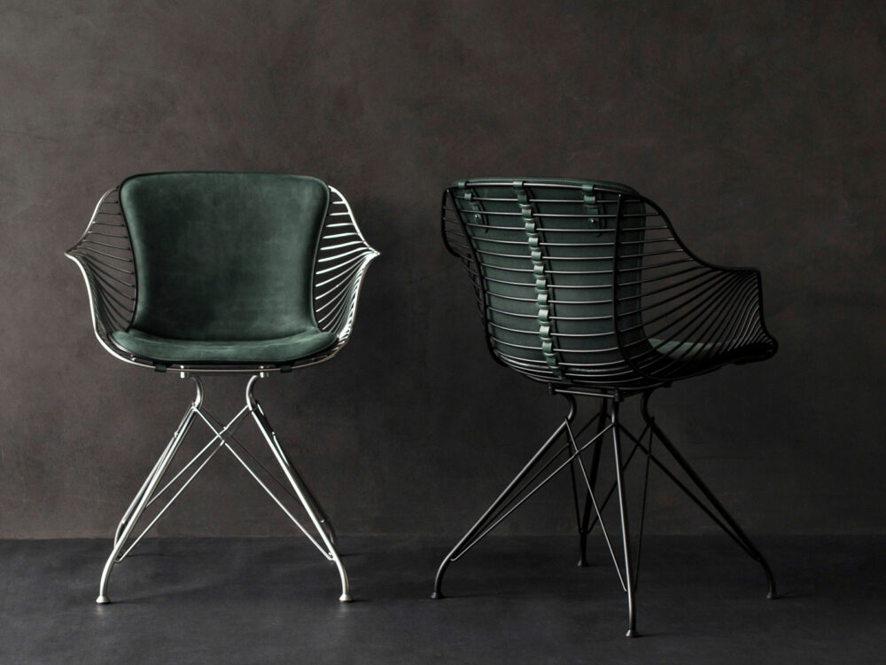 Wire-Dining-Chair-RacinGreen-Leather