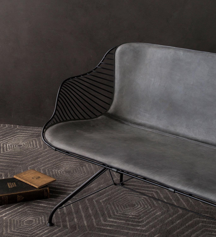 Wire-Lounge-Sofa-DarkGrey-Leather
