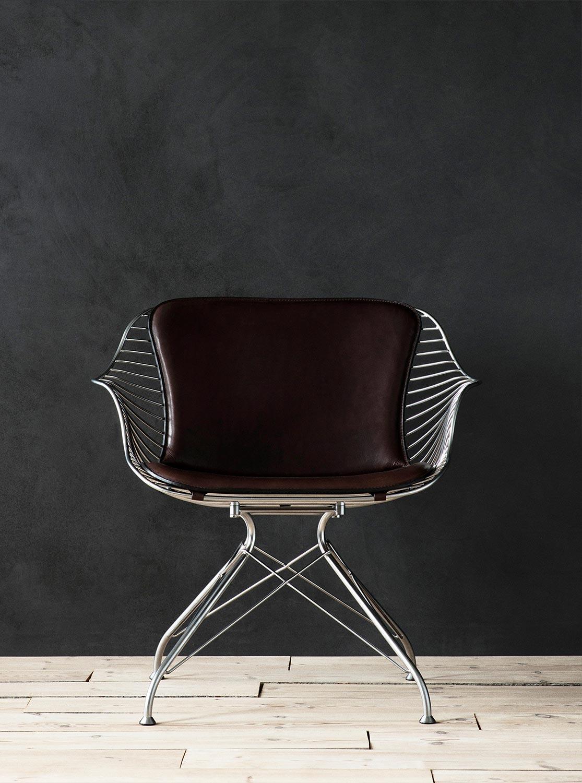 Wire-Lounge-Chair-Chrome-YeDarkBrown