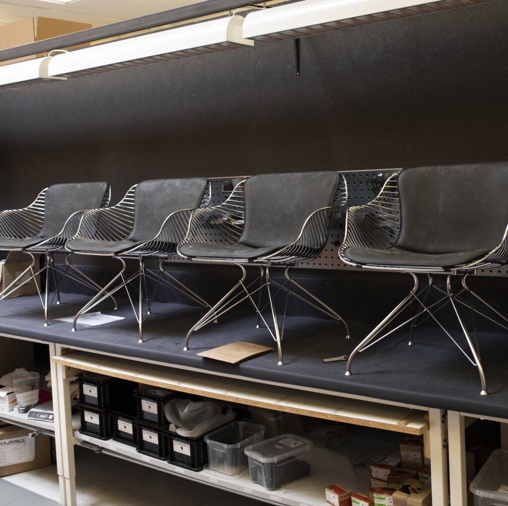 Completed Wire Lounge Chairs