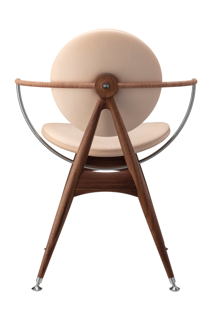Circle Dining Chair with armrest / Natural leather