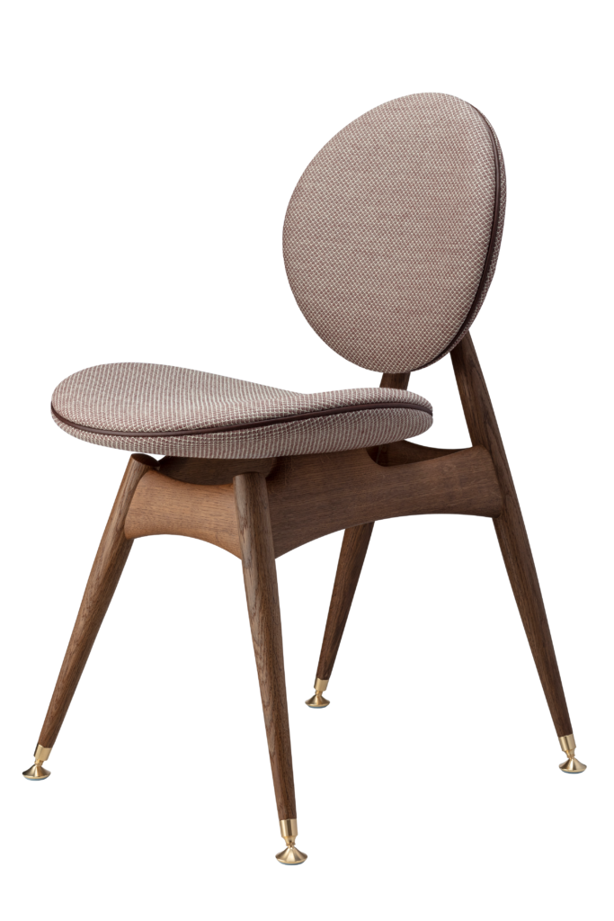 Circle Dining Chair without armrest / Jaali fabric