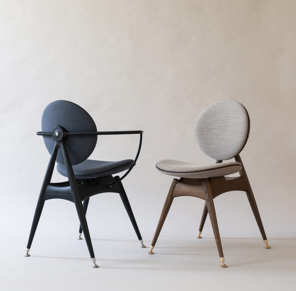 Circle Dining Chairs - with and without armrest - Jaali fabric
