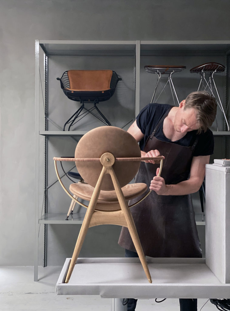 Circle Dining Chair in the making