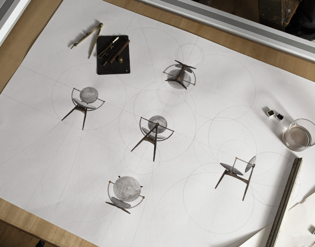 Process Handdrawing Circle Chair Overgaard & Dyrman